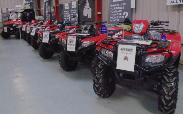 Find out more about new Honda ATV's